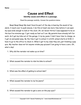 Drug Cause and Effect Essay