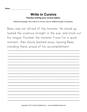 Free cursive writing worksheets pdf