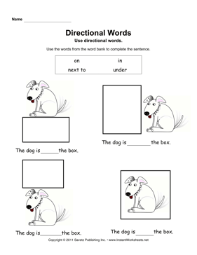Directional Words