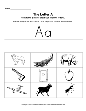 Letter A Pictures