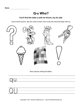 Qu Who — Instant Worksheets