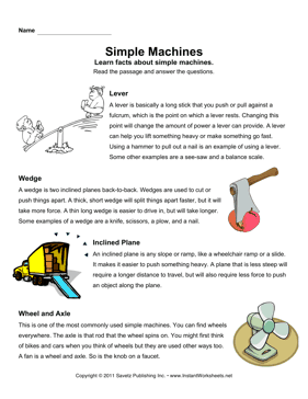Simple Machines Comprehension