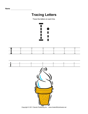 Letter I Tracing Worksheets | HD Walls | Find Wallpapers