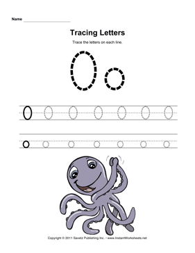 Pre-K Worksheets Alphabet Tracing | ABITLIKETHIS