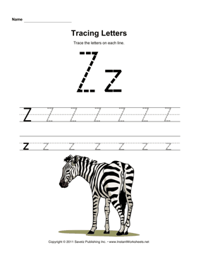 Alphabet Tracing Worksheets A To Z. Alphabet Tracing Worksheet ...